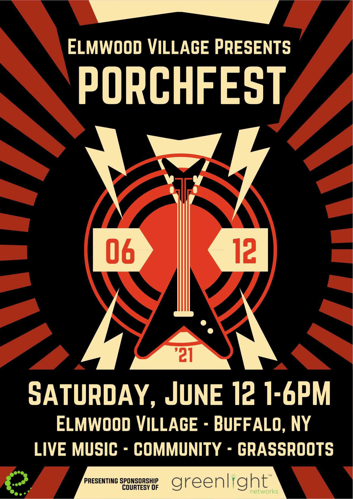 2021 Porchfest Concert Poster